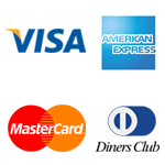 aceitamos: visa, american express, mastercard, diners club