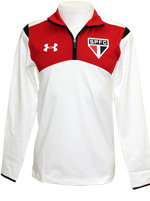 Moletom com Z�per SPFC 2015 Under Armour Branco